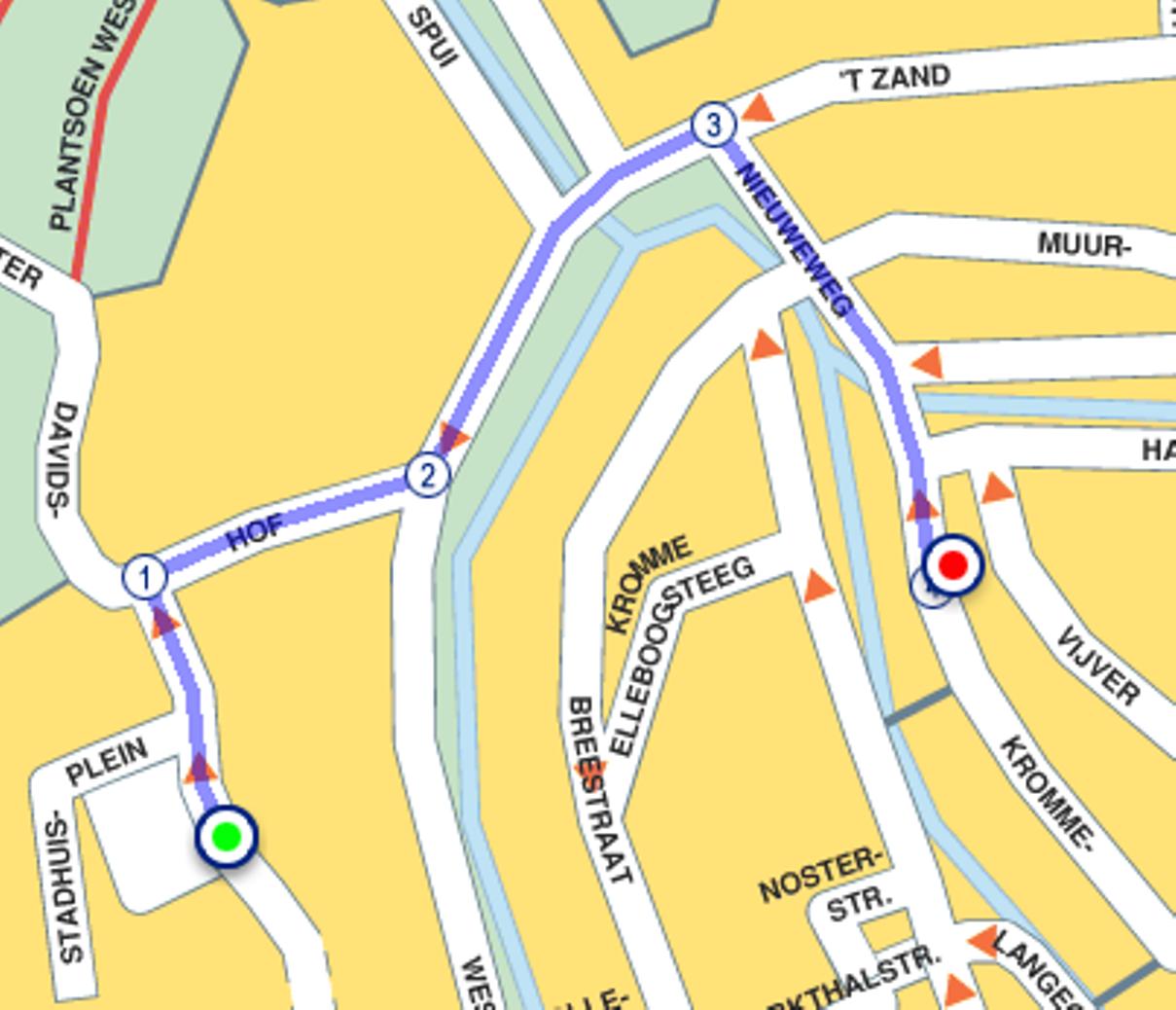 route_parkeergarage
