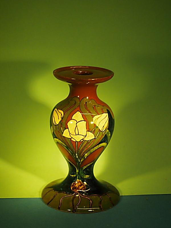Rozenburg sierobject in vorm van kandelaar