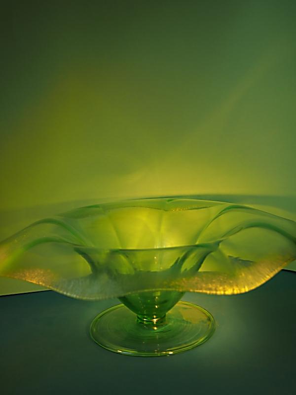 Art Deco stijl glazen fruitschaal Eisch Duitsland