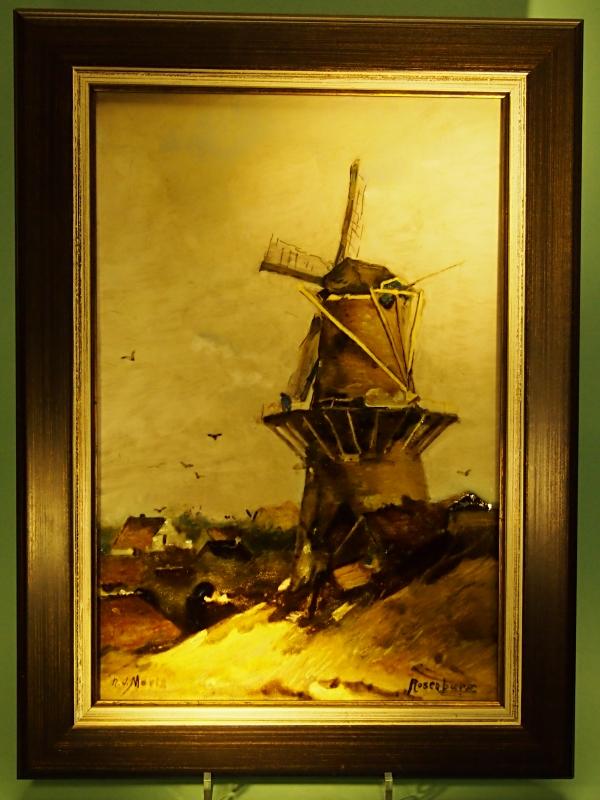 Rozenburg Den Haag tegelplaat naar Jacob Maris